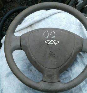Чери КК 6 руль с подушкой