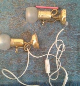 Поворотные настенные лампы (ночники)