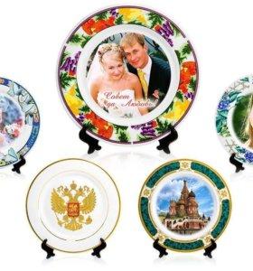 Фото- тарелки с любой Вашей фотографией.