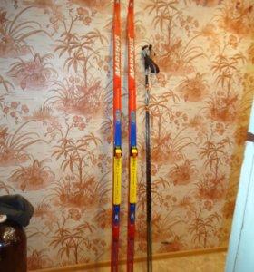 лыжи и палочки