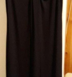 Платье черное в пол для будущей мамы
