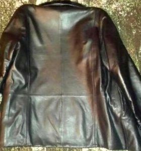 Куртка зимняя кожаная 48-50р
