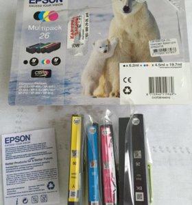 Картриджи Epson HP 600/7/8, 4 цвета новые