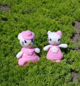 """Вязаные игрушки """"Кошечки"""""""