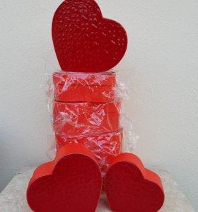 Упаковка/ набор подарочных коробок сердце