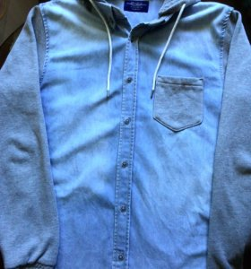Джинсовая рубашка Pull & Bear