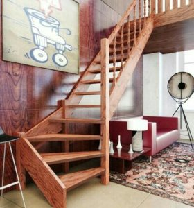 Лестница межэтажная Г-образная