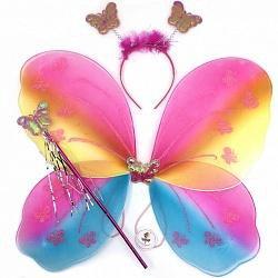 Набор Фея (крылья, ободок, волшебная палочка)