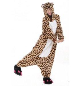 Пижама S (кигуруми) Леопард НОВАЯ