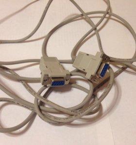 VGA кабель 2,5 метра мама-мама