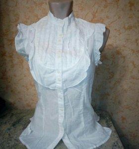 Блузка белая, хлопок, школа, 11-13 лет