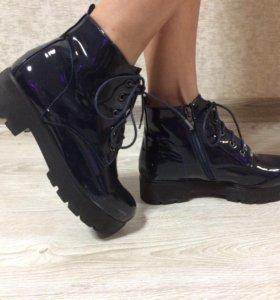 Ботинки лаковые осенние