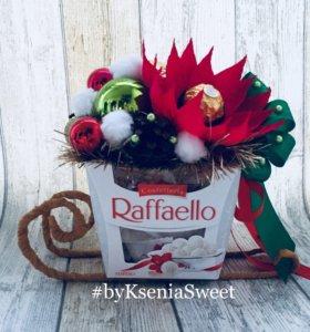 Букет из конфет Сани с Рафаэлло или трюфелями