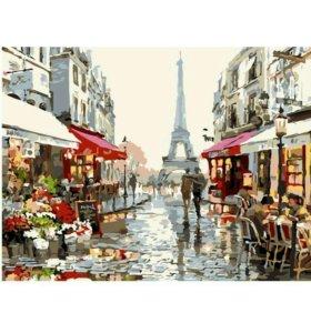 """Набор для написания пейзажа """"Улочки Парижа"""""""