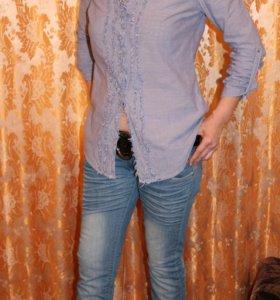 Блузка-рубашка р.46-48