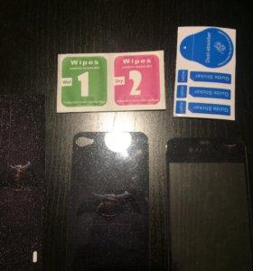 Стекла защитные iPhone 4, 4s