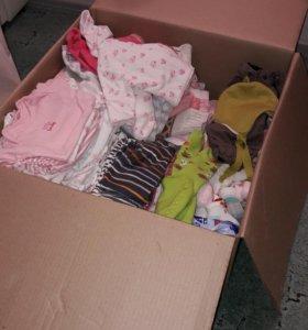 Коробка детских вещей