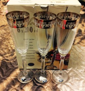 Набор бокалов для шампанского Bohemia/Чехия