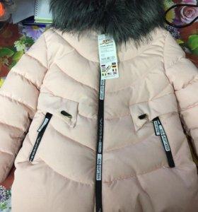 Зимние куртки на девочку.