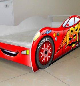 Кровать Тачка новая с матрасом и доставкой