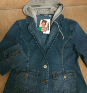 Стильная джинсовая куртка, новая, 48-50