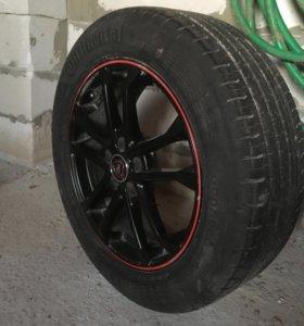 Летние колеса на литых дисках для Toyota, VW