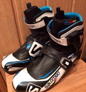 Ботинки лыжные Salomon бу конёк Саломон