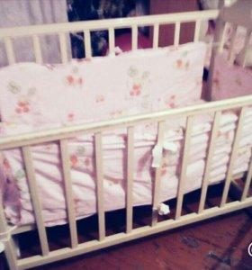 Детская кроватка маятник!