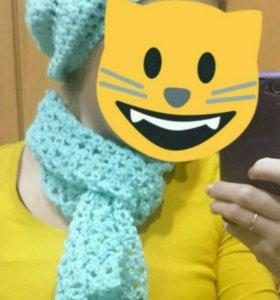Ажурный комплект: шапка и шарфик