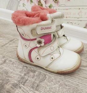 кожаные ботинки зимние 25 размер