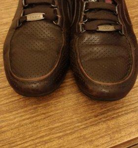 Кожаные туфли, р.40