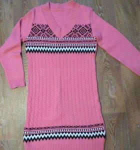 Теплое платье 50-52