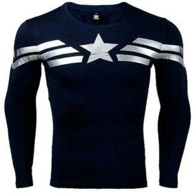 Капитан Америка новая футболка с длинным рукавом