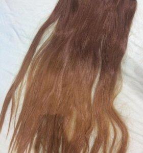 Волосы на заколках .Трессы 55 см
