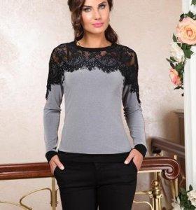 Новая блуза трикотажная, 52р (маломерит на размер)