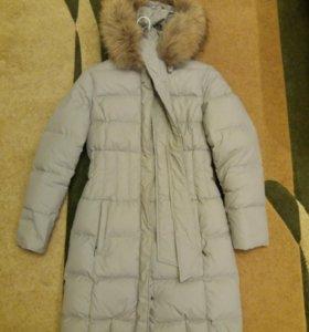 Пуховое пальто 44-46 +🎁