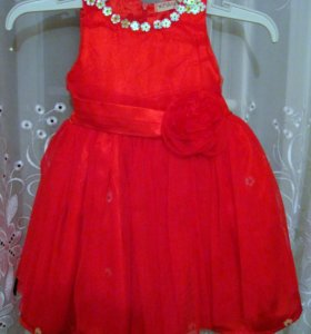 нарядное пышное платья 2-4г