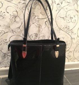 Женская сумка новая лаковая Westfalika
