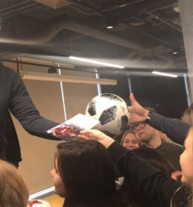 Official match ball for the 2018