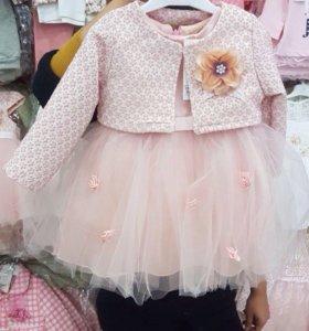 Нарядное новое платье для девочки детское Турция