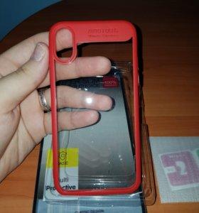 Чехол и стекло для iphone x (10)
