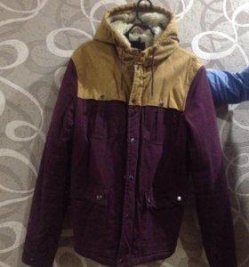 Куртка мужская зима 48 размер с мехом.