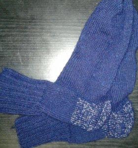 Шерстяные, вязанные носки