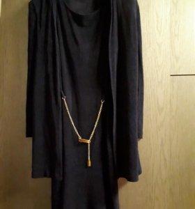 Платье+кардиган-накидка