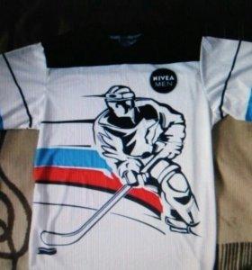 Хоккейная майка Россия Nivea. новая