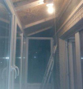 Балконы лоджии с крышей окна отделка