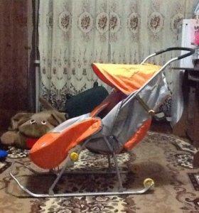 Санки-коляска Nika детям