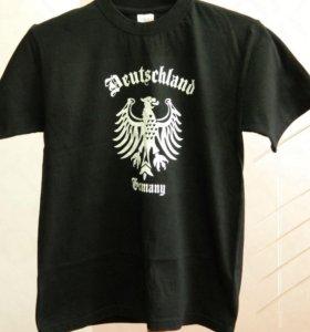 Черная футболка с орлом