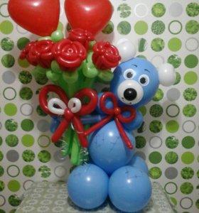 Розы из воздушных шаров