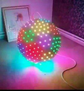 Диско видео шар для праздников новый